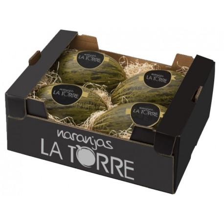 1 CAJA DE 4 MELONES ( APROX 3 A 4 KG. CADA UNO) Melones y Sandías